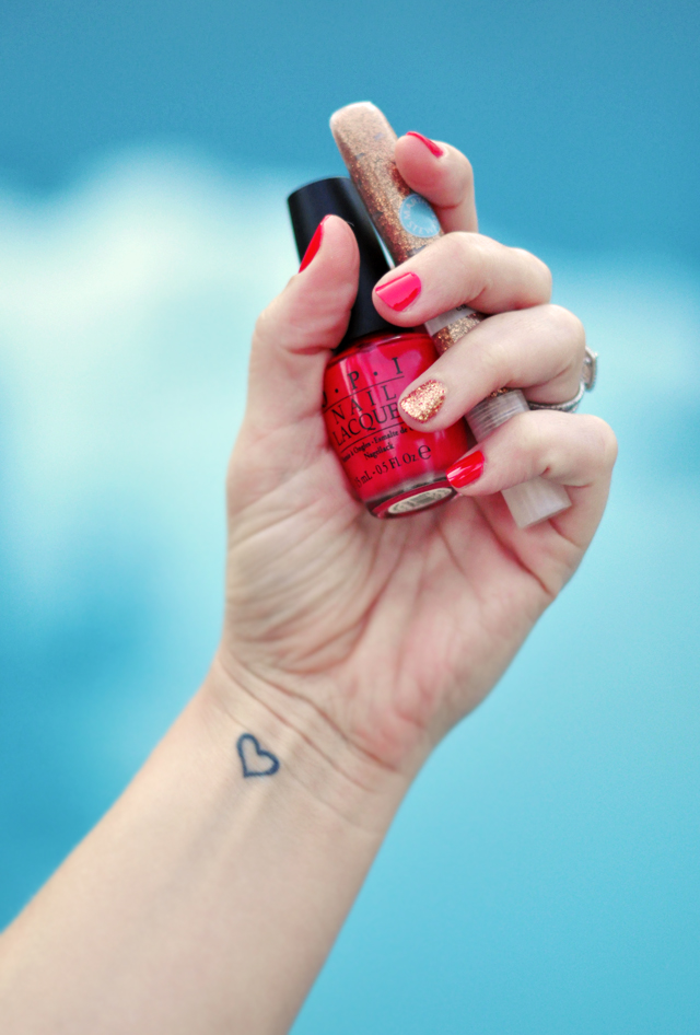 Summer Nails +  OPI+ Martha Stewart Glitter