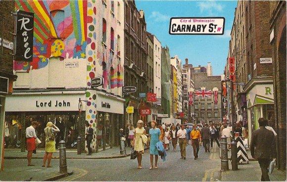 Carnaby Street postcard, 1968.