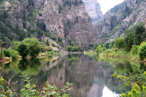 glenwood canyon reflection