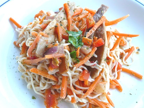Tofu Noodle Stir Fry with Spicy Peanut Sauce - Sprint 2 the Table