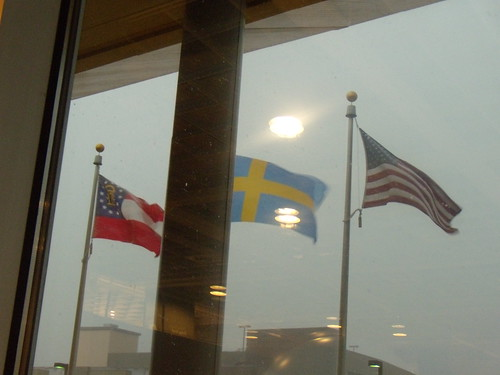 A storm hit while we were in IKEA.