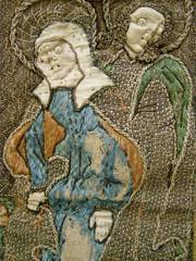 Embroidered chasuble, end of 15th century (DeBeer) Tags: art saint museum christ robe linen embroidery metallic jesus stpaul medieval stjohn clothes slovensko slovakia artmuseum saintpaul virginmary middleages embroidered crucifixion stpeter threads hemp calvary garment chasuble fibre saintjohn ourlady kosice crucified saintpeter vestment lategothic košice saintjohnevangelist gothicart holyvirgin stjohnevangelist malesaint medievalembroidery ceremonialrobe metallicfibre slovakart slovakgothicart eastslovakmuseum slovakgothic gothicembroidery medievalgarment