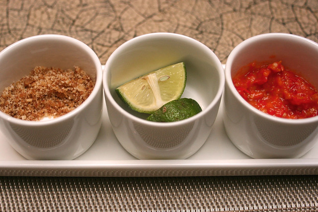 Condiments that jazz up the Soto Ayam Lamonggan
