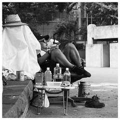 Stefan Hchst (It's Stefan) Tags: park blackandwhite bw blancoynegro monochrome japan tokyo sitting noiretblanc ueno   biancoenero    siyahvebeyaz schwazweis  stefanhchst