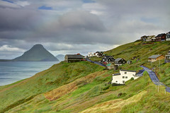 Velbastaour, Faroe Islands, Denmark (**Anik Messier**) Tags: landscape denmark islands rainbow village faroeislands scenicview faroes hestur kingdomofdenmark koltur elevatedview hestsfjrur streymoyisland velbastaur anikmessiercopyright velbastaour hestsfjorour