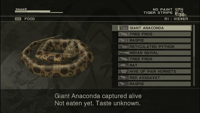 Metal Gear Solid 3: Snake Eater HD - Food