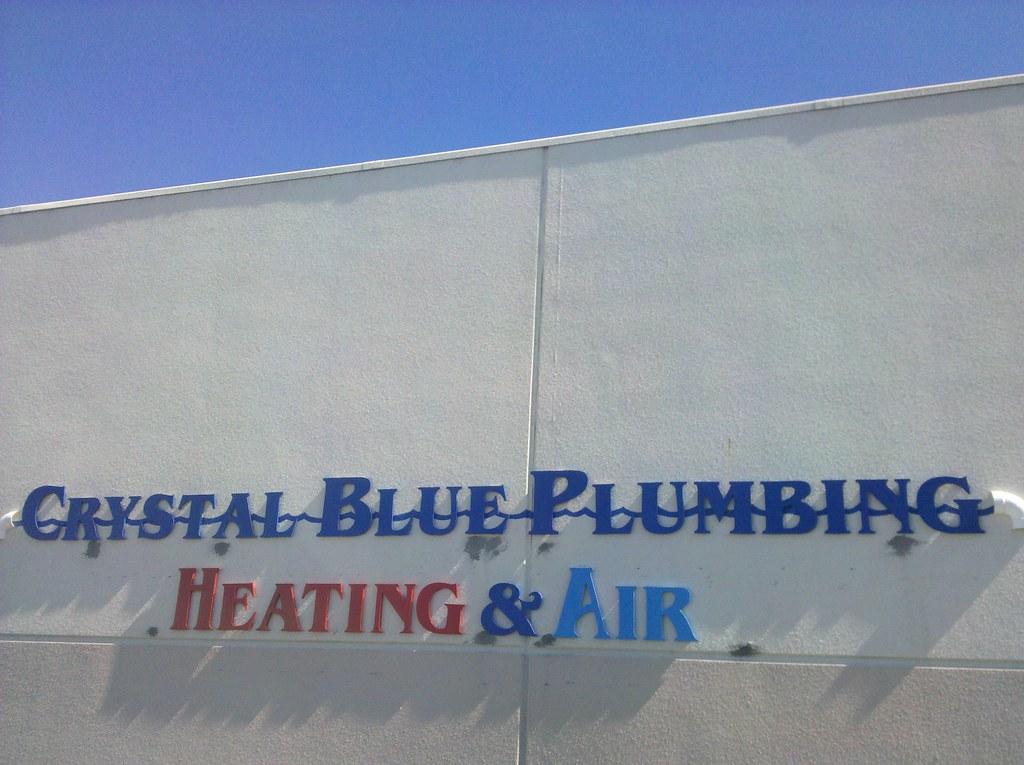 Crystal Blue Plumbing Heating & Air Sacramento Sign