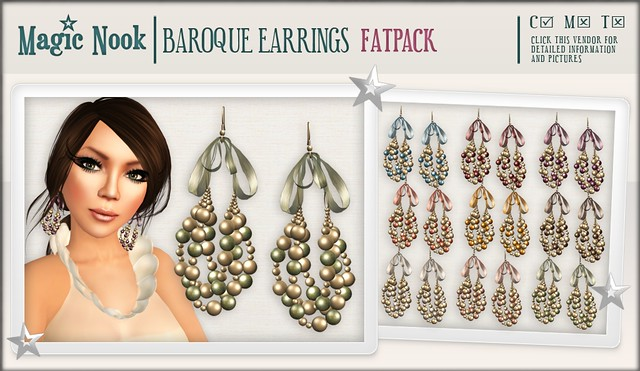 [MAGIC NOOK] Baroque Earrings FATPACK