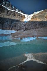 DSC_8598 (mingzkl) Tags: blue cloud snow canada ice sunrise rockies nikon falls cave jaspernationalpark floatingice angelglacier 28f28ais mountainedith
