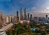 KLCC - Early Morning (DanielKHC) Tags: morning light hotel 1 nikon cityscape explore malaysia kuala hdr klcc lumpur skybar d300 traders nikkor105mmfisheyef28 danielkhc photoengine oloneo daniielcheong