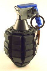 MK2 Grenade (Nick Brick) Tags: life hand lego wwii size weapon grenade frag fragmentation nickbrick