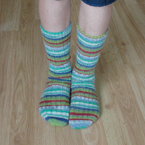 Mossy Green ribbed socks