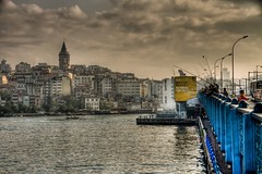 Galata Bridge, Istanbul (Nejdet Duzen) Tags: city trip travel sea cloud turkey boat trkiye istanbul deniz sandal karaky bulut galatabridge turkei seyahat galatakprs ehir saariysqualitypictures mygearandme ringexcellence