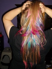 Gorgeous (Maria Clarite) Tags: pink blue colors hair fun style tips dye layered cosmetology