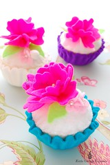 Hot Pink Beauty! (Little Cottage Cupcakes) Tags: pink toy purple turquoise limegreen felt cupcake hotpink playfood littlecottagecupcakes