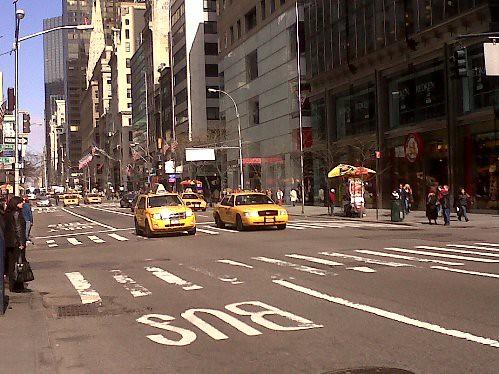 New York - Taxis tradicionais na rua