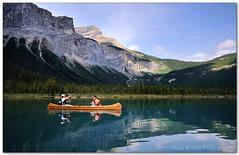 Fishing Emerald Lake (Panorama Paul) Tags: paul image national bruins nohdr d300sigma parkemerald lensesnik photographywwwpaulbruinscozayoho lakealbertacanadacanoefishingpaddlingrainbow troutnikon filterssingleframe