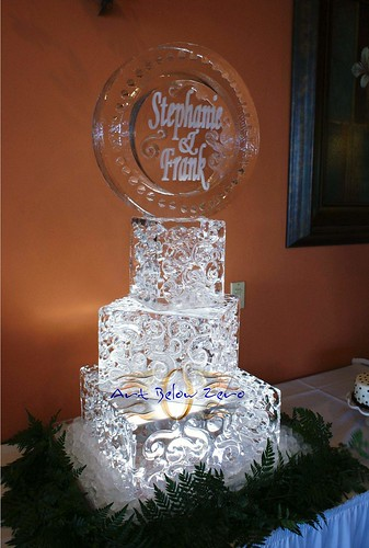 Square Ice Cake  ice sculpture