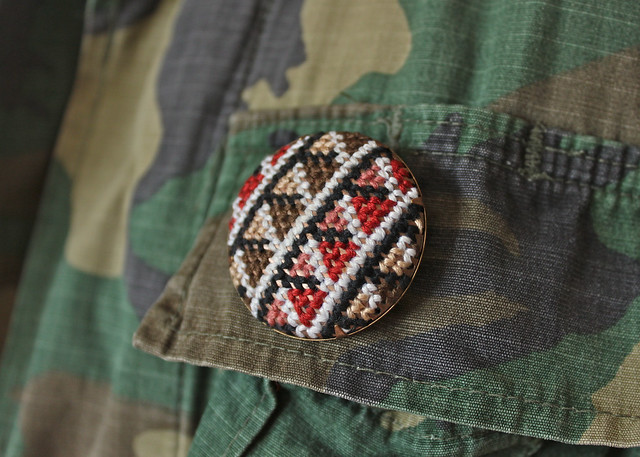 Camo with Embroidered Pin