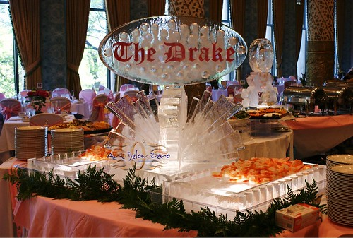 The Drake on Sunburst 3D ice sculpture