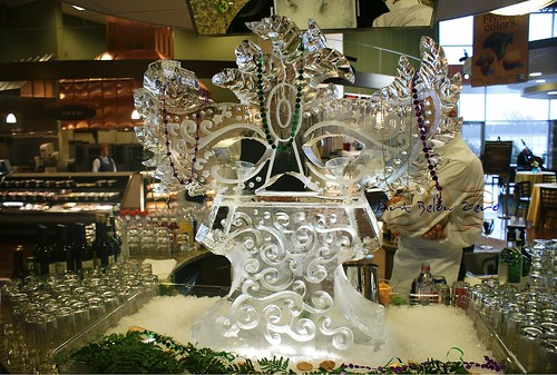 Mardi Gras Mask Double Luge 3D Ice Sculpture