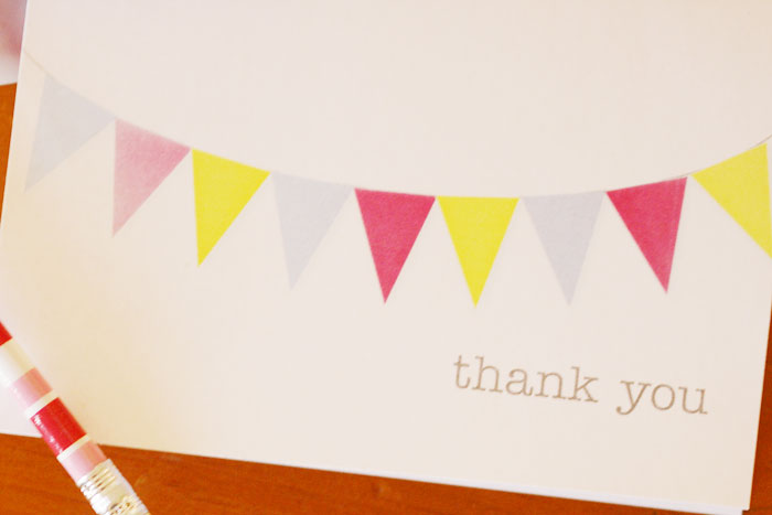 thank you card - shot of yellow