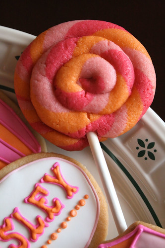 Swirly Lollipop Cookies.