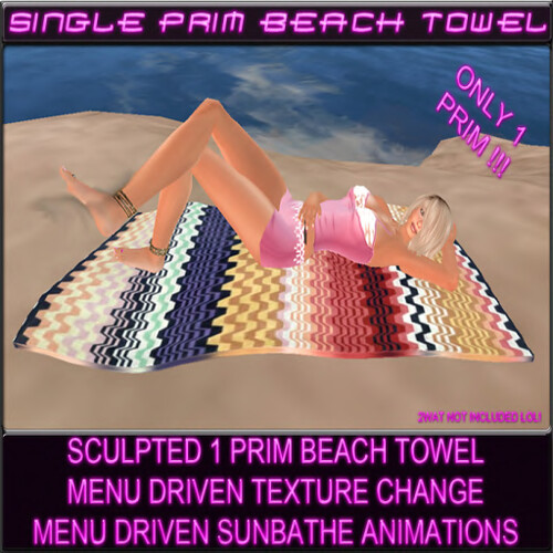 Single Prim Beach Towel