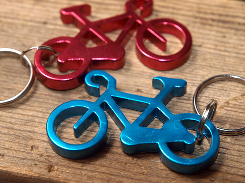 Bicycle Bottle Opener Key Fob