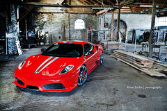 Capristo Scuderia (Keno Zache) Tags: auto wood red car canon photography eos photo power photoshoot automotive ferrari bild rims holz luxury scuderia f430 430 sportcar keno sportwagen 400d zache