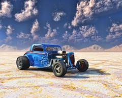 Salt Shaker (kenmojr) Tags: auto classic car race vintage drag flat traditional salt competition hotrod artrage vue coupe bonneville racer topaz