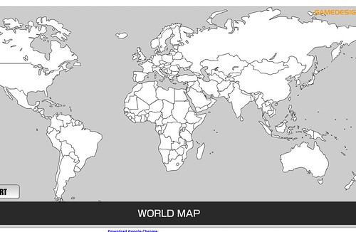 For your projects in world geo: a printable blank world map  by trudeau
