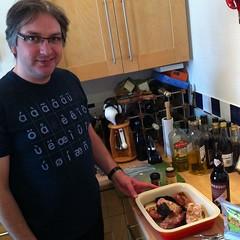 Preparing to turn short ribs into chili.