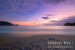 The 100th Pic! (-TommyTsutsui- [nextBlessing]) Tags: longexposure blue light sunset sea sky seascape beach nature japan clouds landscape nikon purple dusk magic tide scenic shore     hdr izu sandybeach  ndfilter  nishiizu sigma1020    onsalegettyimages