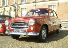 Peugeot 403 rouge métal (gueguette80 ... Définitivement non voyant) Tags: old red cars rouge eu autos peugeot métal 403 anciennes seinemaritime redcars 2011 françaises