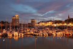 La Rochelle - France (david.bank (www.david-bank.com)) Tags: france port canon twilight dusk bluehour larochelle vieuxport charentemaritime