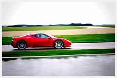 Fast Cars, Low Shutter... (...) Tags: red cars speed lens reflex fast ferrari voiture sportscar numeric pentaxk7 pentax200mmf28 pentax55mmf14da