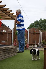 Andy levitating and watching fish (Andy Coe) Tags: camera flowers chris dogs andy fun photography sam sony south yorkshire floating levitation golfing poppy alpha hovering hover rotherham levitating levitate a390 rawmarsh