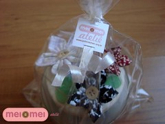 3 broches! (Mei Mei Ateliê) Tags: aniversario design broche handmade artesanato fuxico feltro pote tecido joia customizado meimeiatelie
