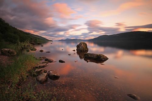 Dusk by Loch Ness.