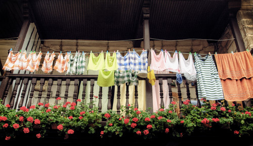 Hung out clothes. Treceño. Cantabria. Ropa tendida