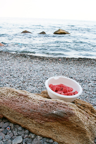 water melon on the sea