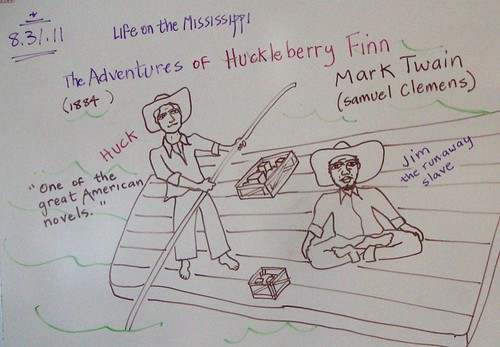 Huck and Jim for 2011, geography class narrative on river travel by trudeau