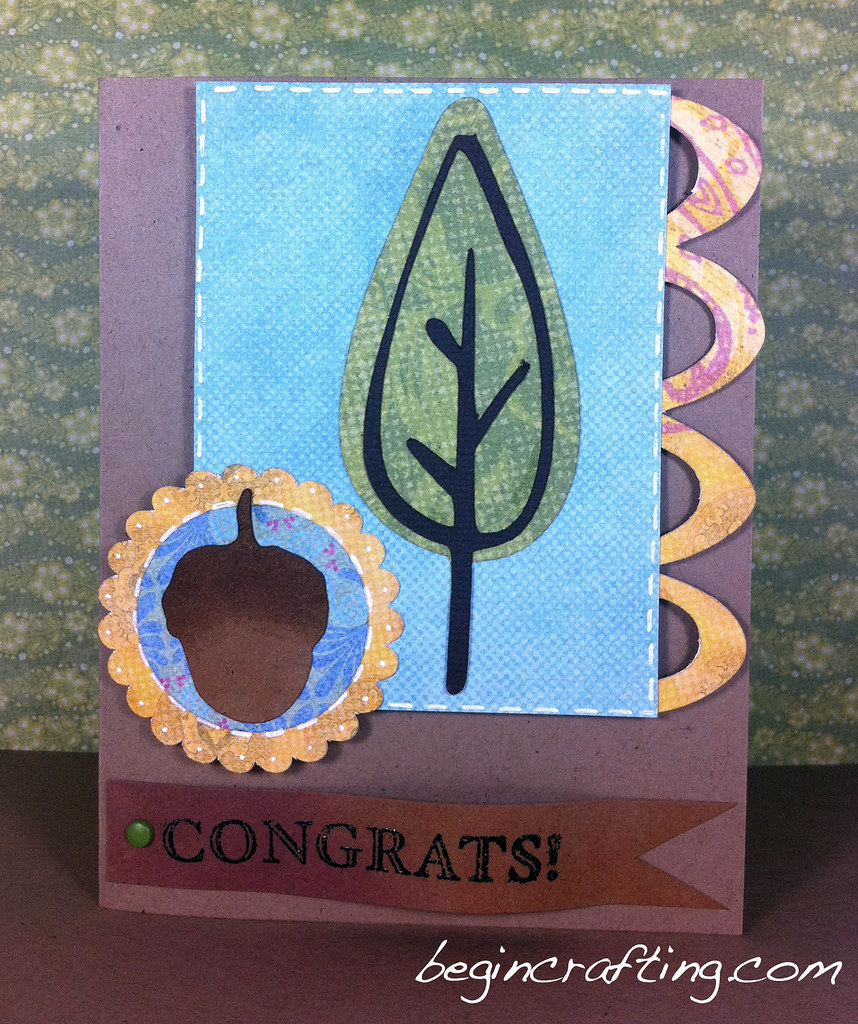 Handmade Tree Congrats Card