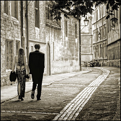 UK - Oxford - Off to the Ball together v4 sq sepia (Darrell Godliman) Tags: uk greatbritain travel england people blackandwhite bw copyright love tourism students monochrome sepia photoshop ball walking mono nikon couple europe britishisles unitedkingdom britain squares perspective younglove eu manipulation tint romance lovers oxford lane squareformat formalwear gb romantic toned sq oxforduniversity tinted oxfordshire threesacrowd allrightsreserved oxon architecturalphotography universityofoxford universityball travelphotography ballgown bsquare balldress instantfave brasenoselane omot travelphotographer flickrelite dgphotos darrellgodliman wwwdgphotoscouk architecturalphotographer d300s dgodliman alwaysexc absolutegoldenmasterpiece nikond300s truthandillusion ukoxfordofftotheballtogetherv4sqsepiadsc8817