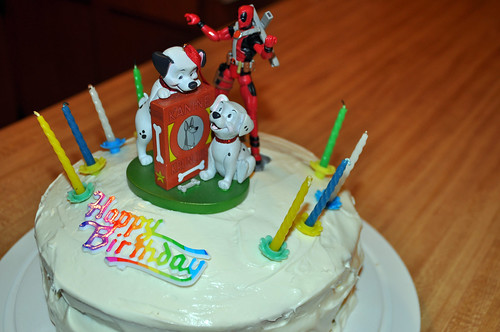 101 Dalmatians and Deadpool Cake
