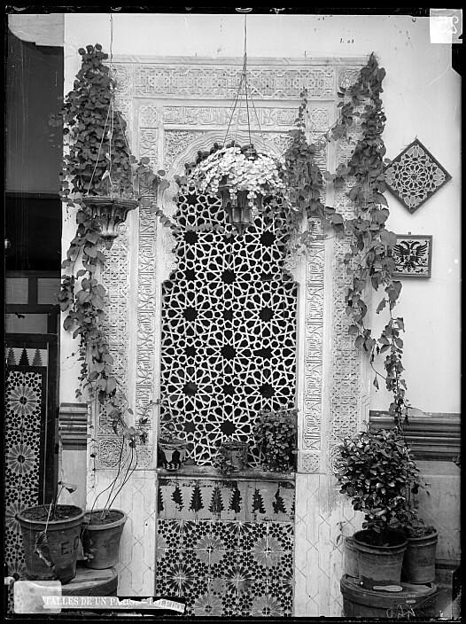 Patio del Pintor R.Barajas en la calle Cristo de la Luz a finales del siglo XIX. Foto Casiano Alguacil. Ayuntamiento de Toledo