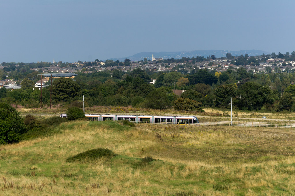 The Luas Tram As Seen From Lehaunstown Road