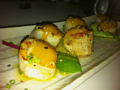 Bonsai Scallops with Karashi-Su-Miso