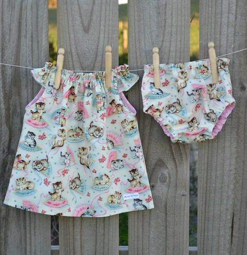 Gracie dress and reversible baby knickers